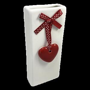 Nawilżacz ceramiczny, prostokątny z zawieszką z sercem